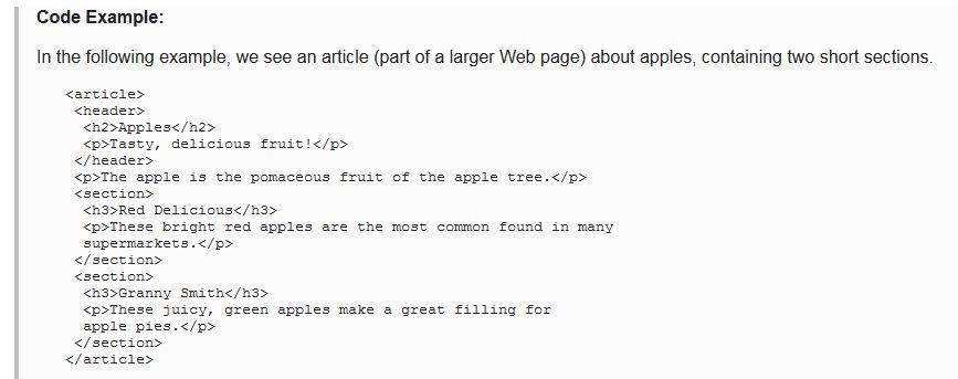 HTML5 Code example